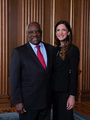 Clarence Thomas and Kat Mizelle