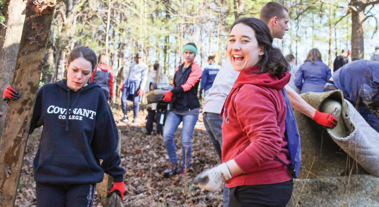 Covenant students in service projects
